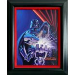 """Lot # 337: STAR WARS: SHADOWS OF THE EMPIRE - Hand-Painted Brothers Hildebrandt """"Vader Stays Sharp"""""""