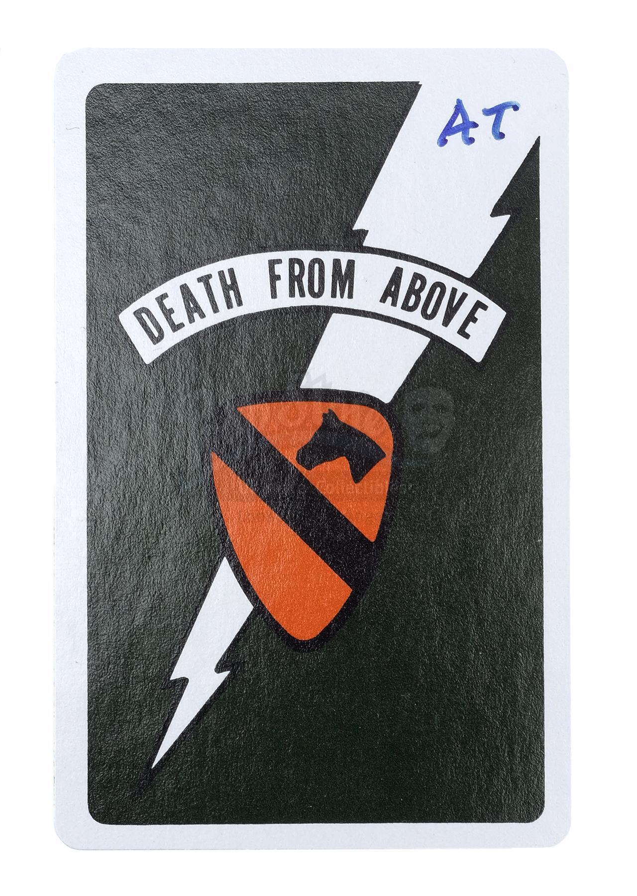 Lot # 478: APOCALYPSE NOW - Alex Tavoularis-Signed Death Card