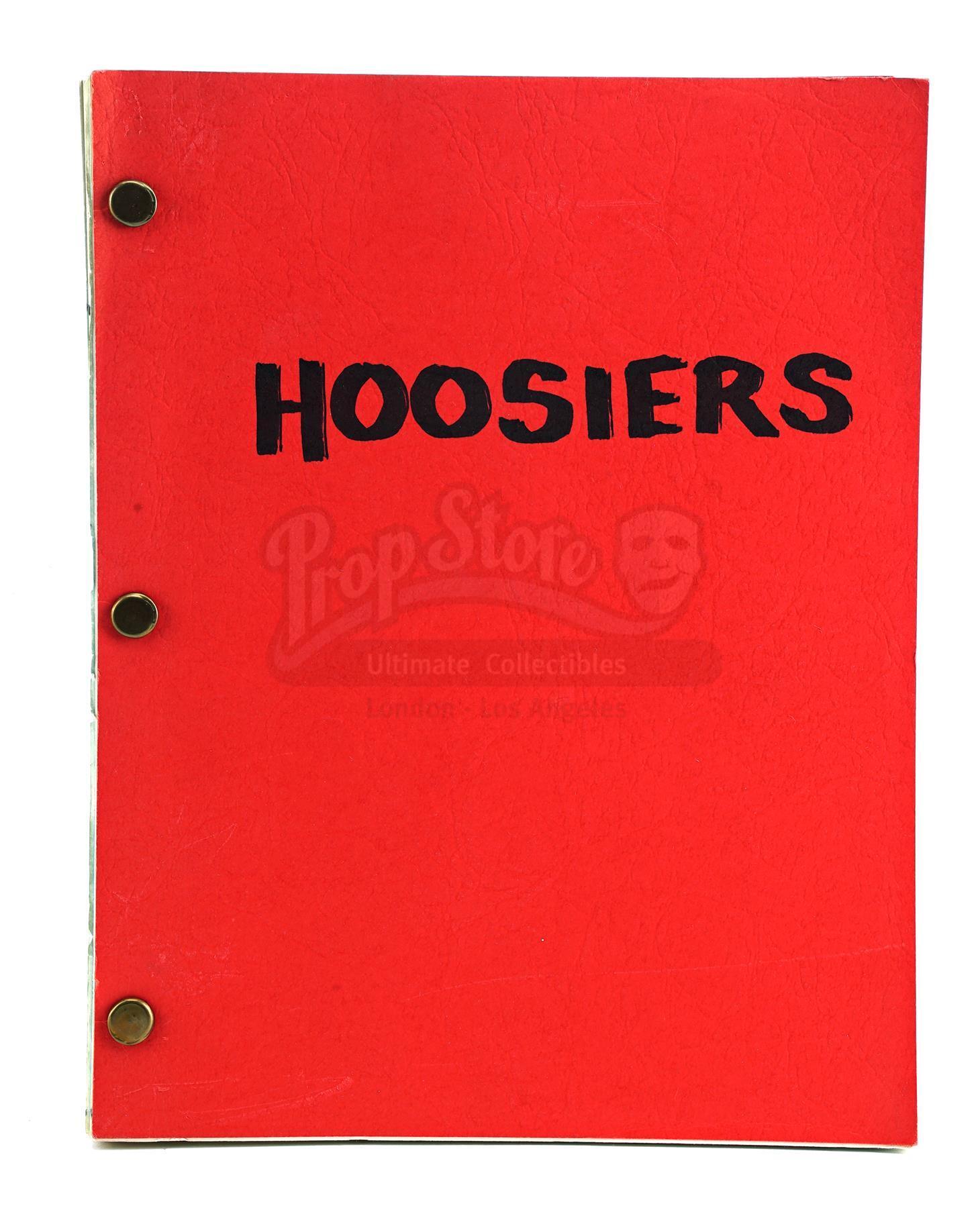 Lot # 748: HOOSIERS - Bound Final Shooting Script