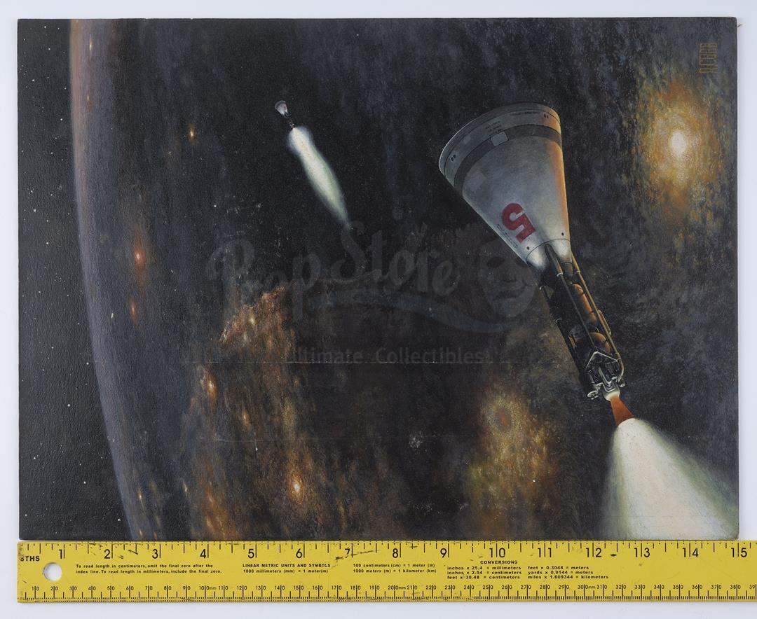 Lot # 1004: RON COBB ARTWORK - Hand-Painted Ron Cobb Space Capsules Illustration - Image 5 of 5