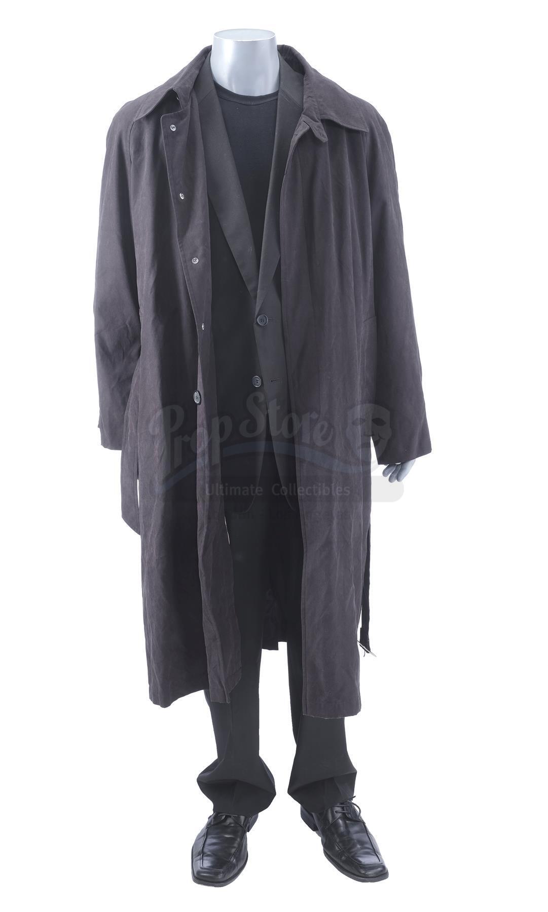 Lot # 1345: WHIPLASH - Fletcher's (J.K. Simmons) Trench Coat Costume