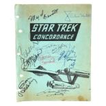 Lot # 1050: STAR TREK: THE ORIGINAL SERIES - Gene Roddenbery and Cast-Autographed Fanzine Cover