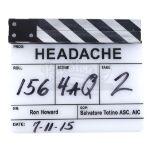 "Lot # 786: INFERNO - ""Headache"" Clapperboard"
