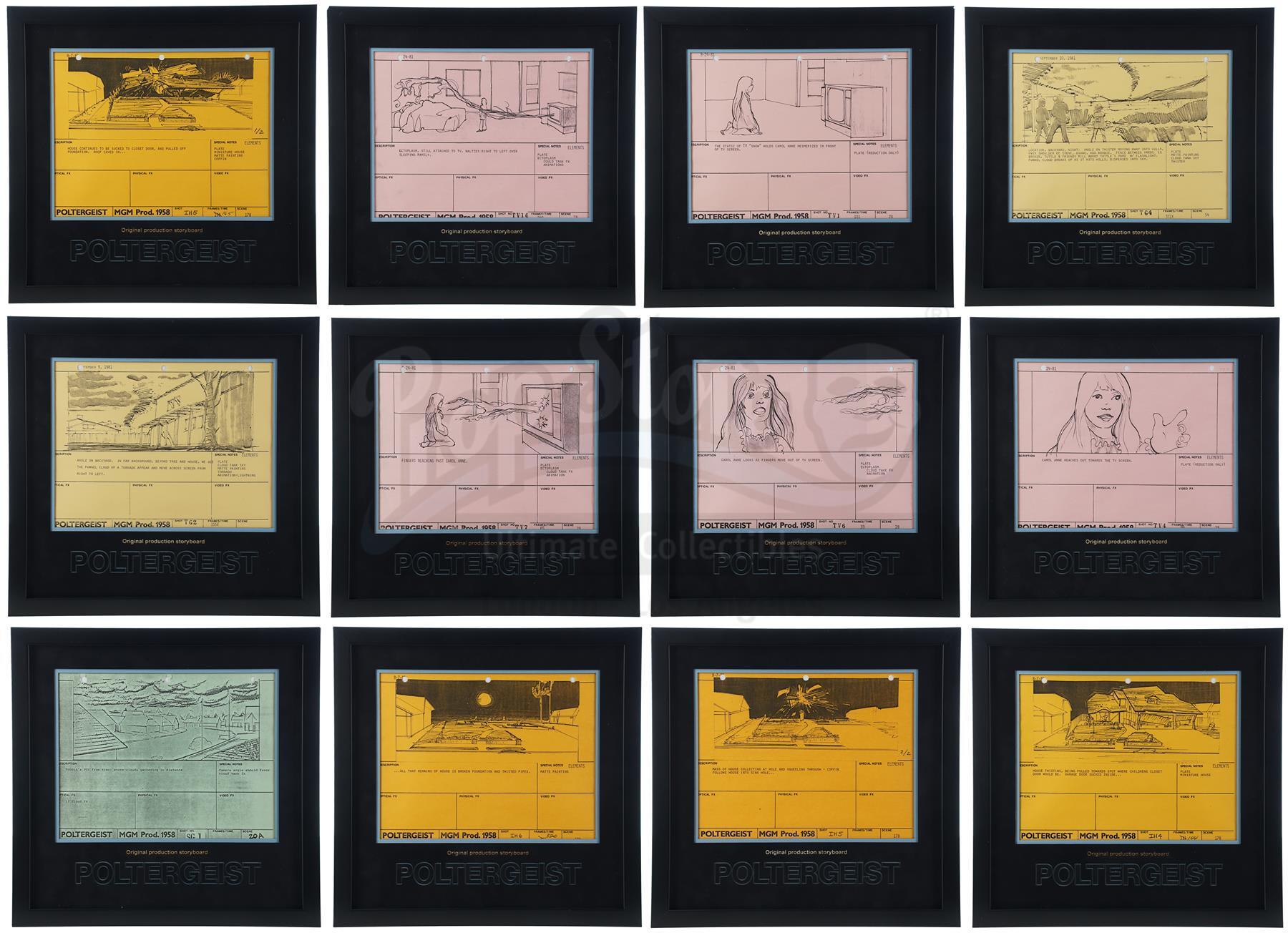 Lot # 970: POLTERGEIST - Original Production Framed Storyboards