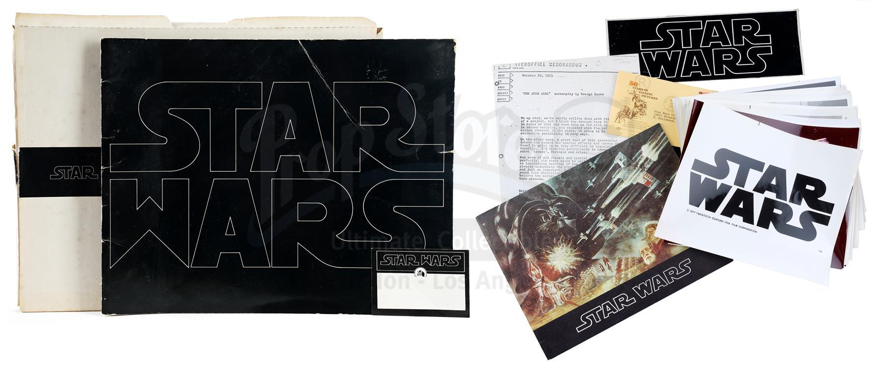 Lot # 1156: STAR WARS - EP IV - A NEW HOPE - Promotional Booklet, Box, and Stills with Star Wars Cor