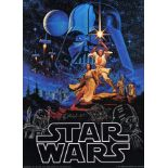Lot # 1161: STAR WARS - EP IV - A NEW HOPE - Greg Hildebrandt-Signed Proof Poster with Three Charact