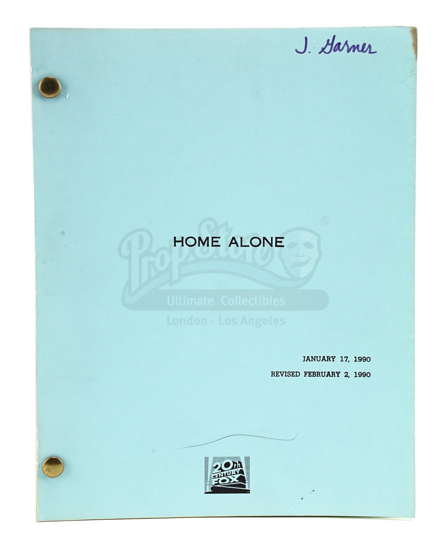 Lot # 737: HOME ALONE - Bound Revised Script