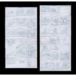 Lot # 681: FRAGGLE ROCK - 11 Hand-Drawn Storyboards