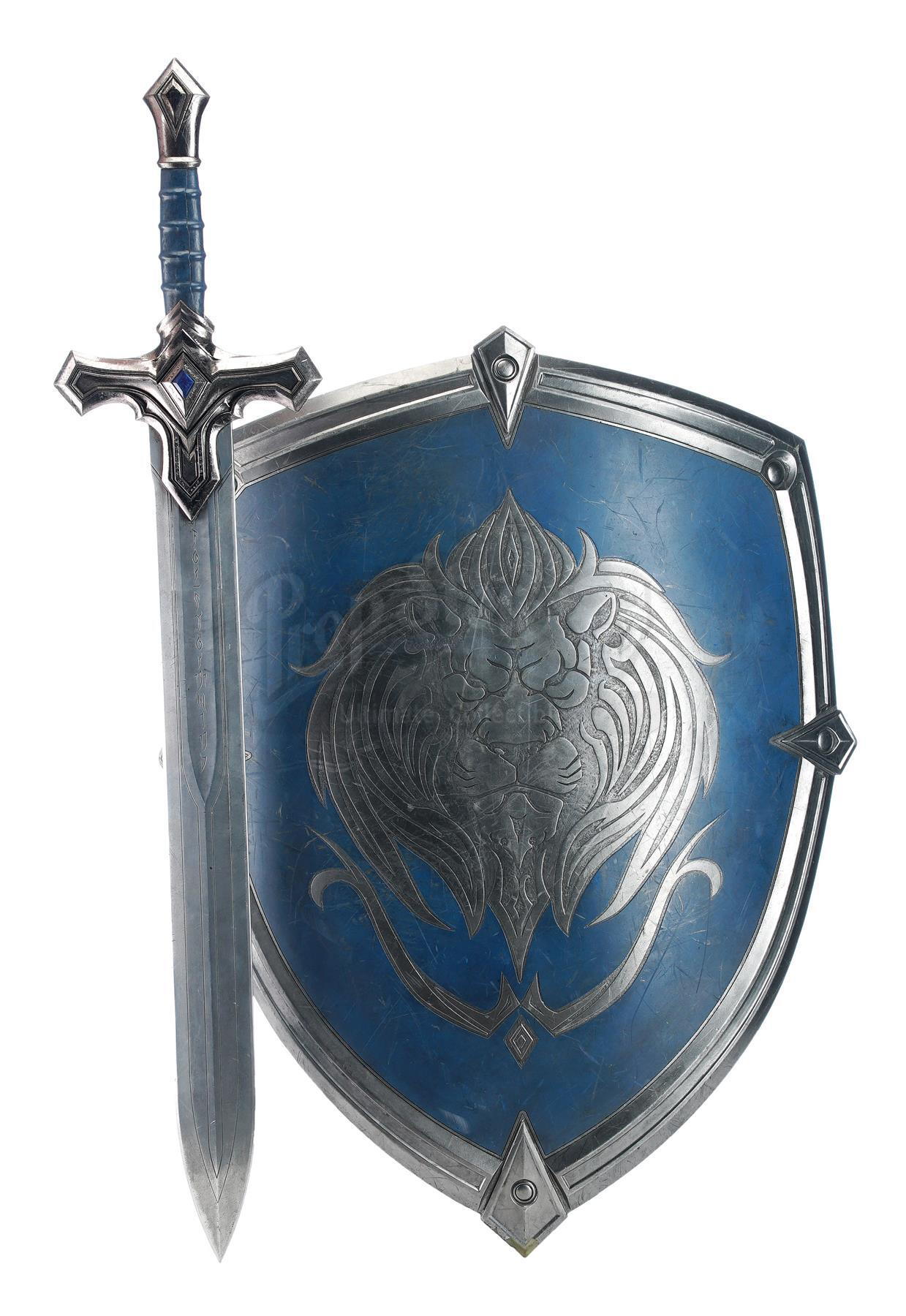 Lot # 412: WARCRAFT - Alliance Foot Soldier's Sword and Shield