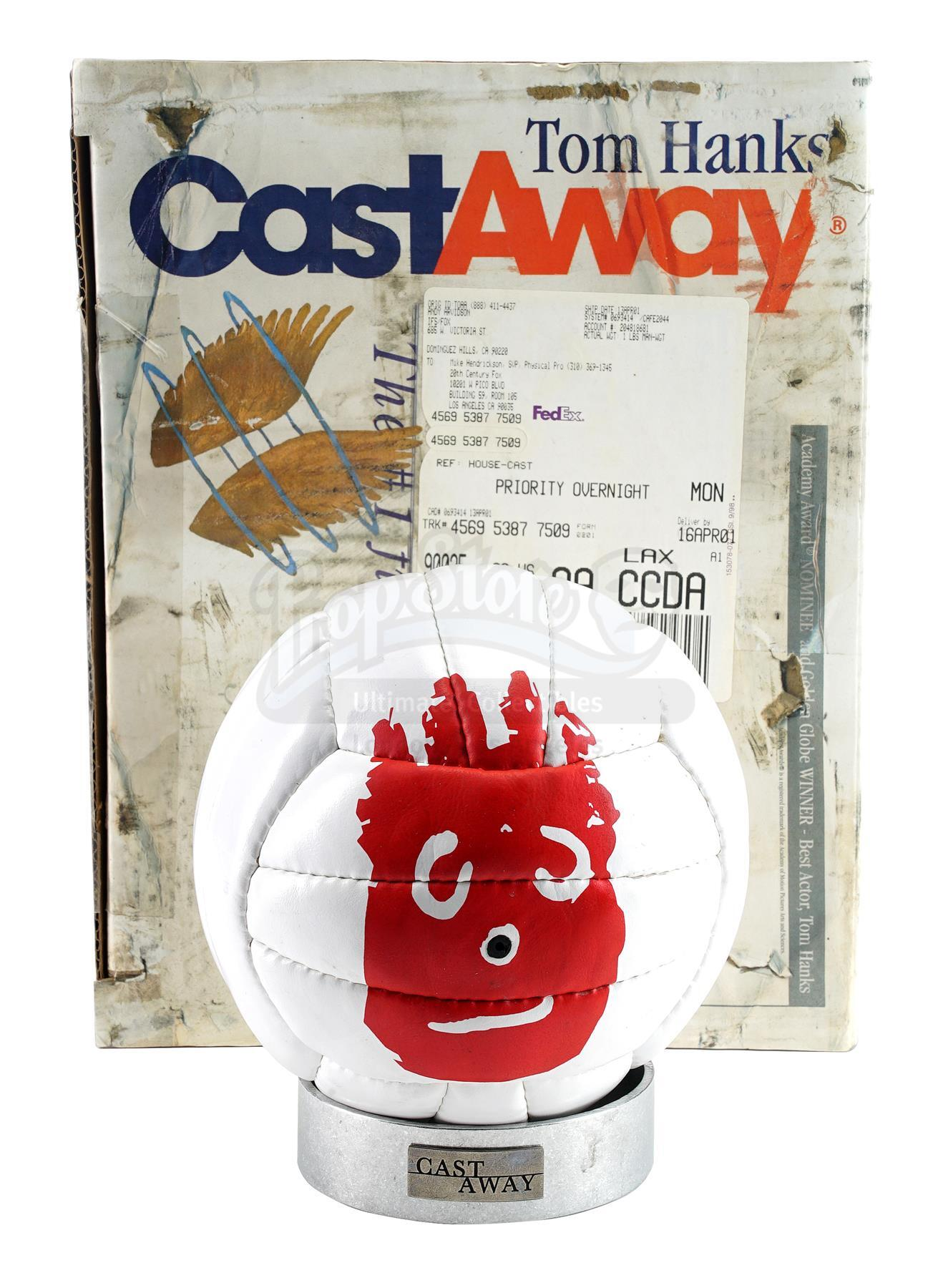 Lot # 562: CAST AWAY - Wilson Volleyball and FedEx Package Crew Gift