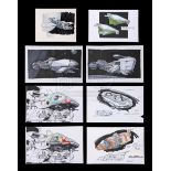 Lot # 1247: STARSHIP TROOPERS - Collection Of Hand-Colored Spaceship Concepts