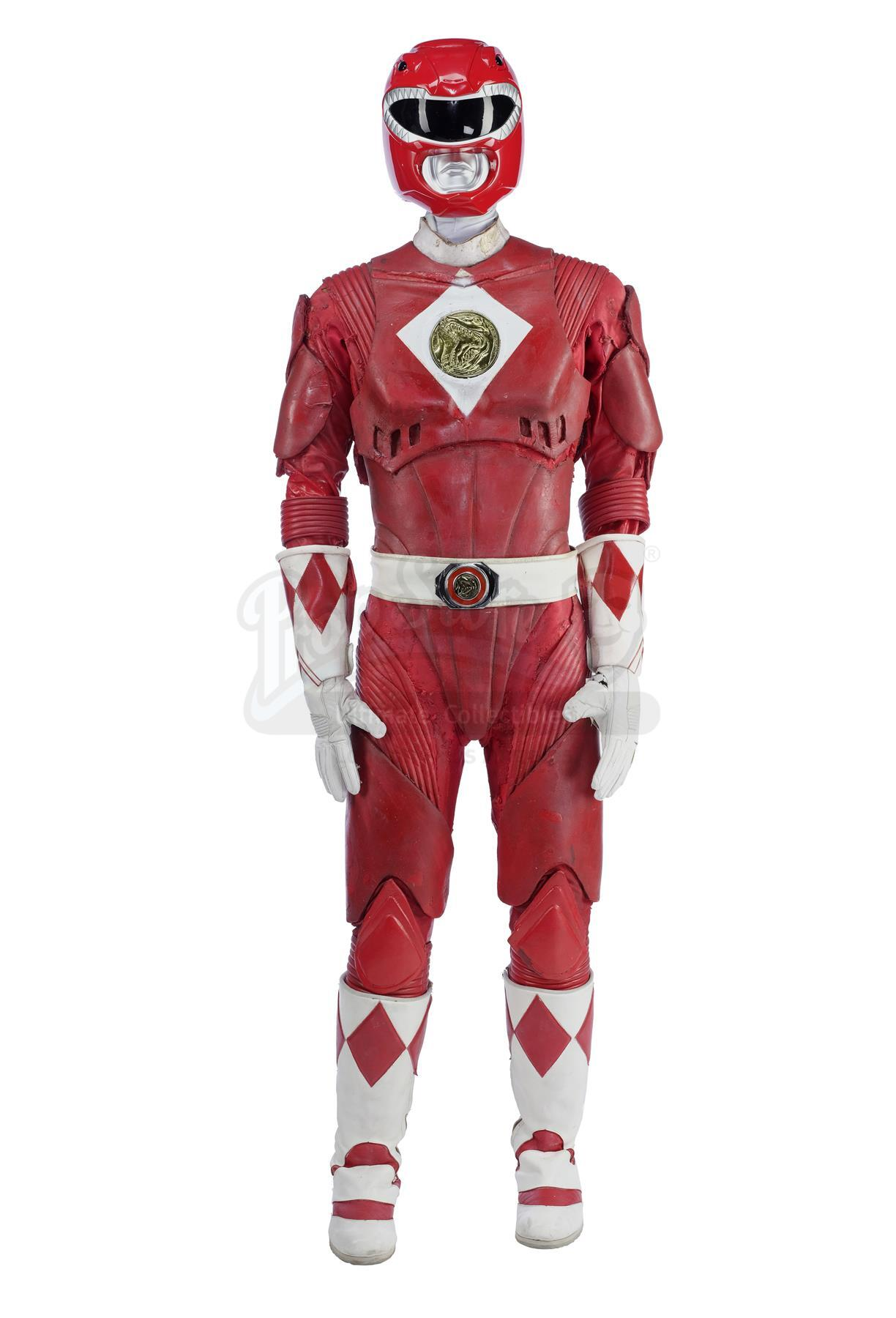 Lot # 184: MIGHTY MORPHIN' POWER RANGERS: THE MOVIE - Red Ranger (Steve Cardenas) Costume with Repli