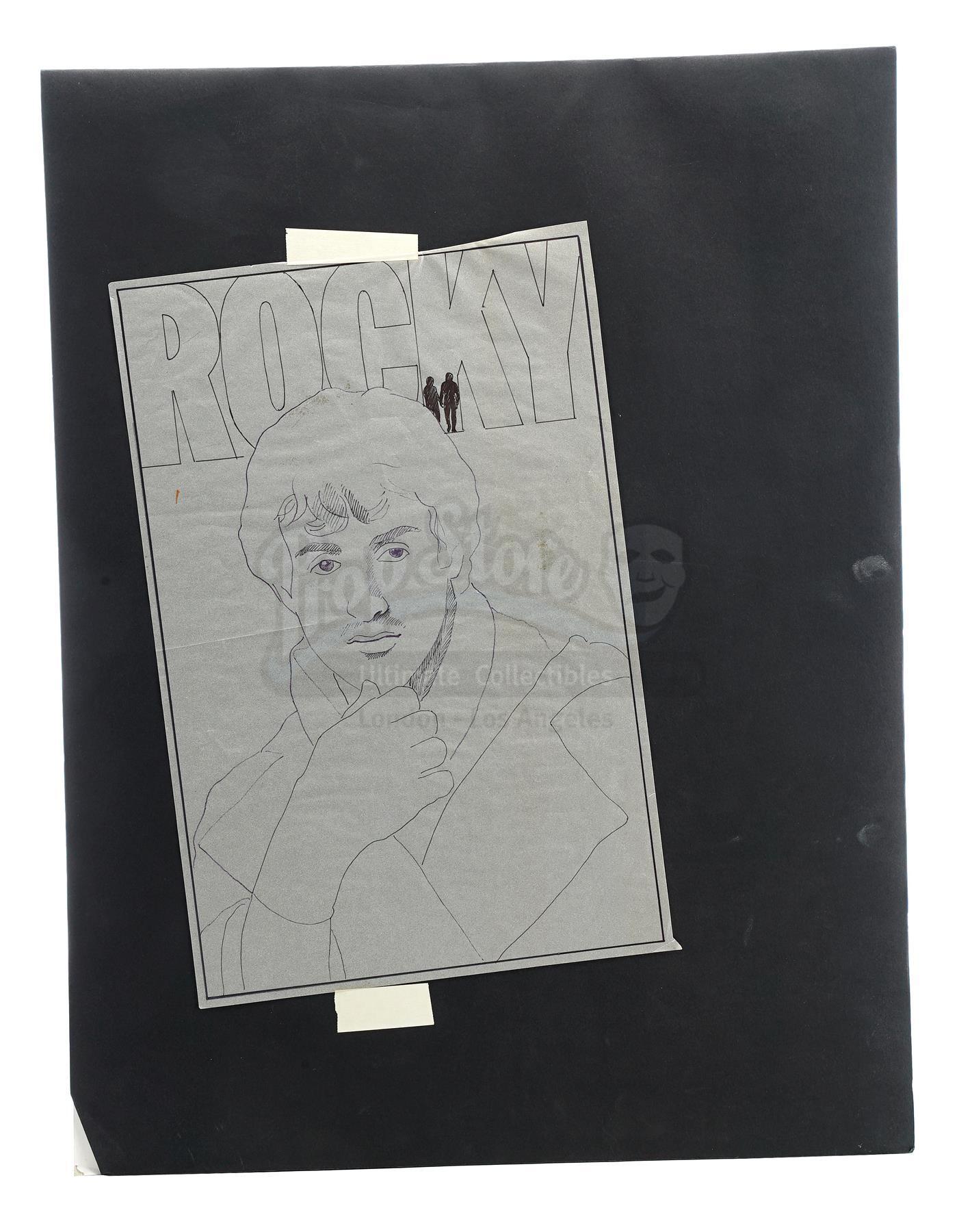 Lot # 996: ROCKY - Poster Development Art