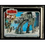 Lot # 1226: STAR WARS - EP V - THE EMPIRE STRIKES BACK - AT-AT Vehicle (With Moving Label) CAS 75+