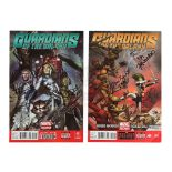 Lot # 720: GUARDIANS OF THE GALAXY - Pair of Cast-autographed Comics