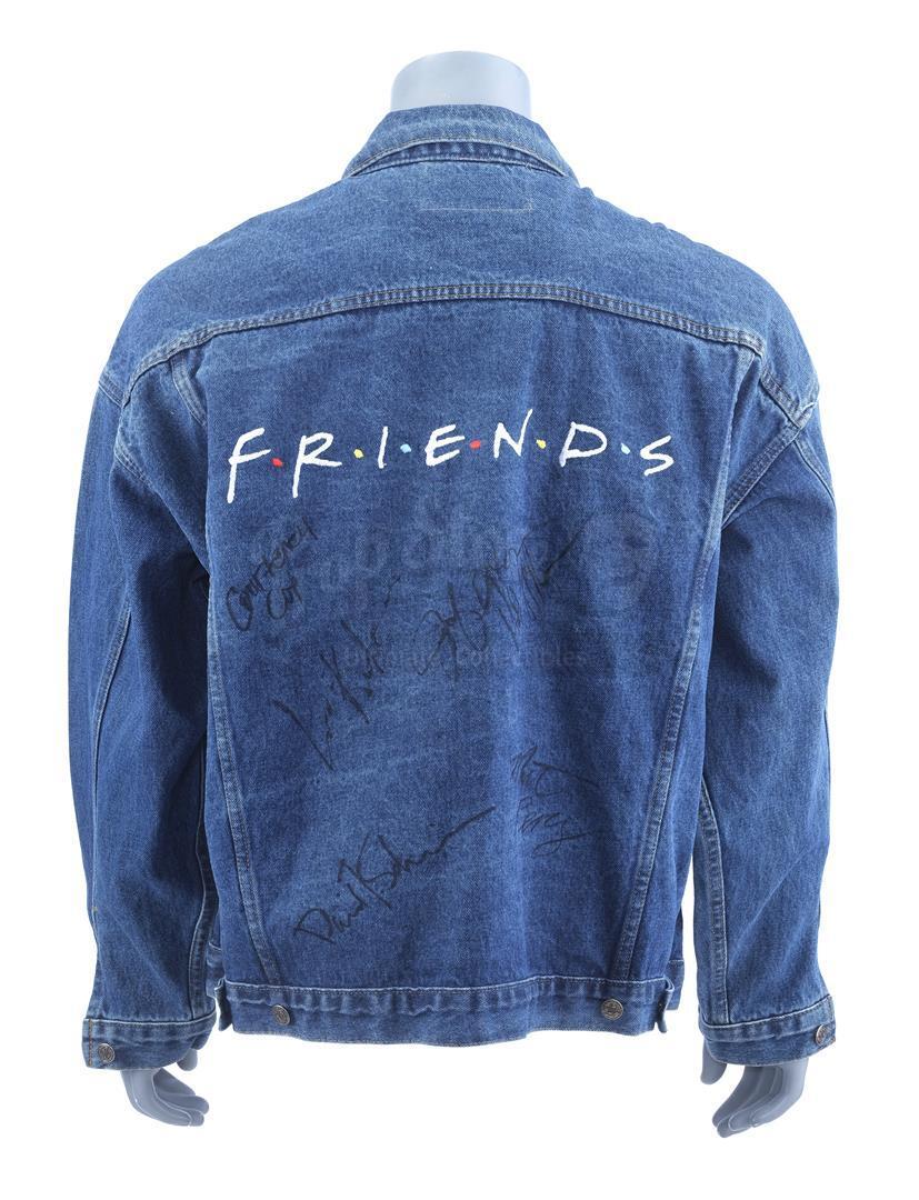 Lot # 684: FRIENDS - Cast-Signed Denim Crew Jacket