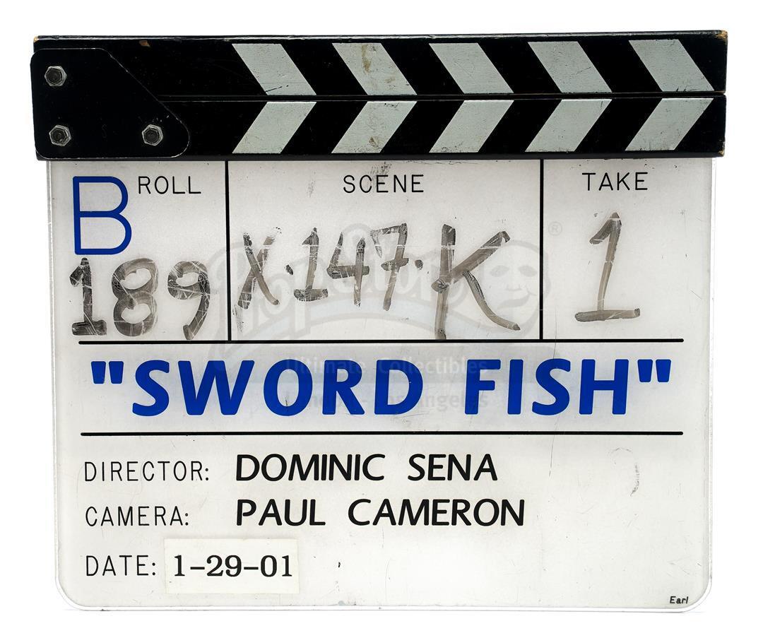 "Lot # 1272: SWORDFISH - ""B"" Camera Clapperboard"