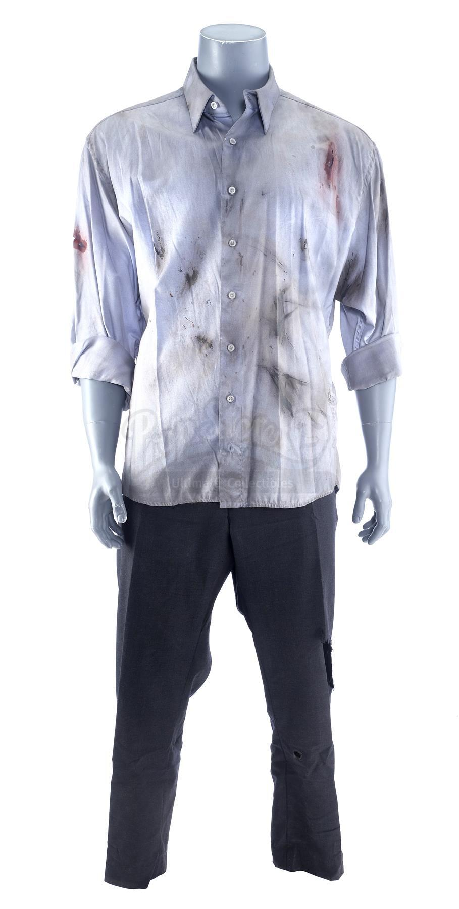 Lot # 1030: SKYSCRAPER - Will Sawyer's (Dwayne Johnson) Distressed Costume