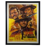 Lot # 710: THE THE GOOD BAD AND THE UGLY - Oversized Framed French Grande Poster
