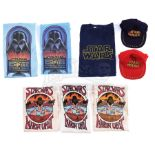 Lot # 1159: STAR WARS - EP IV - A NEW HOPE (1977) - Six Crew Shirts and Two Hats