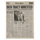 """Lot # 616: DICK TRACY - """"Dick Tracy Arrested"""" Newspaper"""