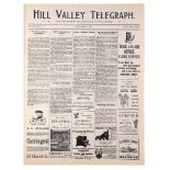 Lot # 494: BACK TO THE FUTURE PART III - Hill Valley Telegraph Newspaper