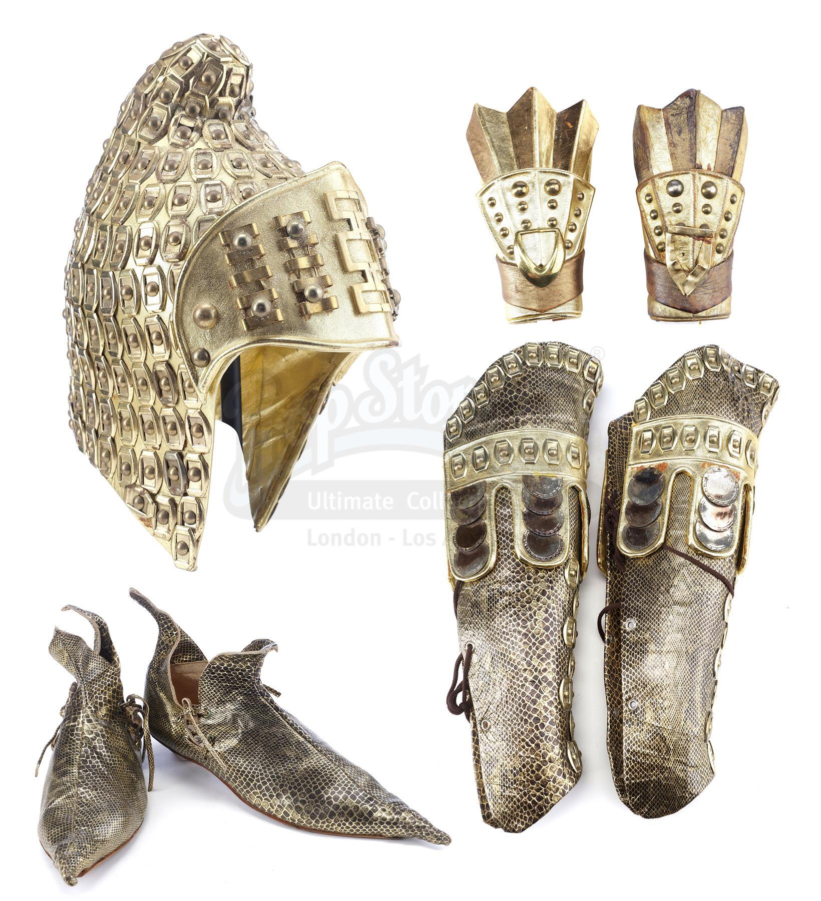 Lot # 164: LEGEND - Jack's (Tom Cruise) Armor Components and Shoes