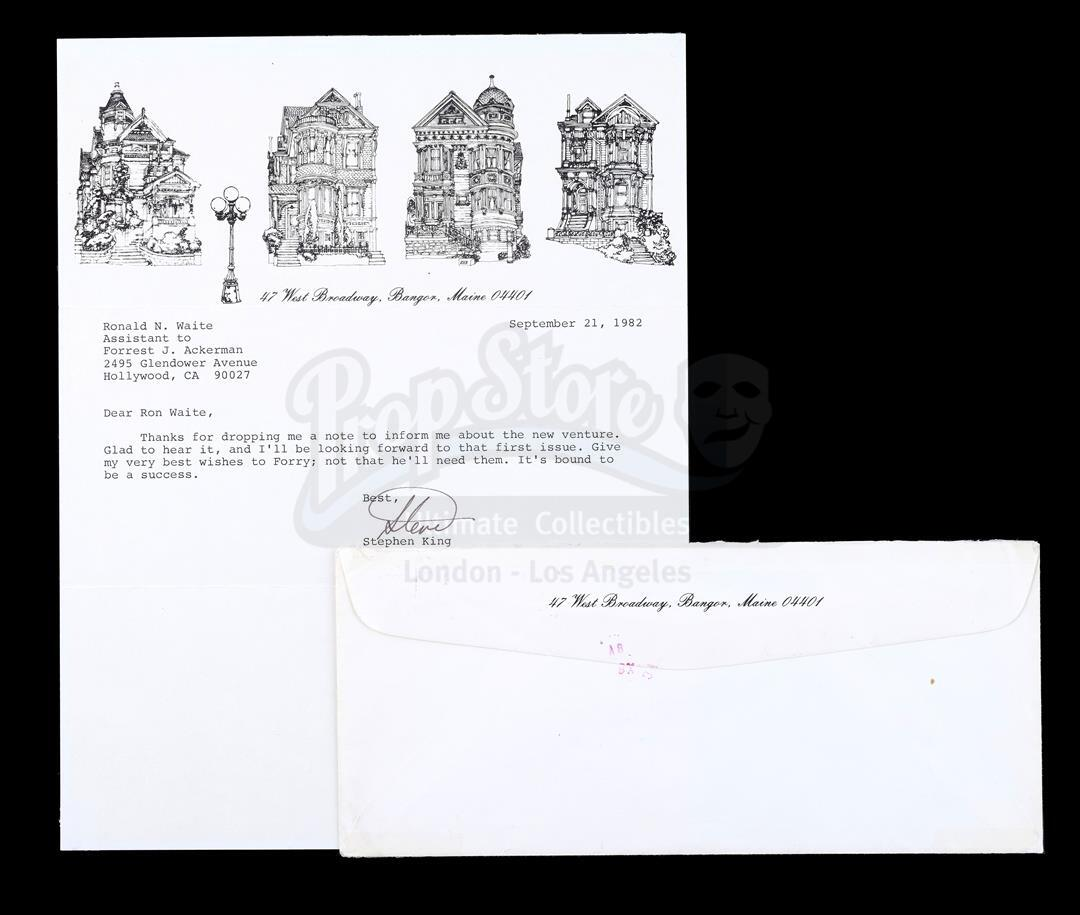 Lot # 456: THE ABYSS (1989) - Stephen King-Signed Letter with Envelope