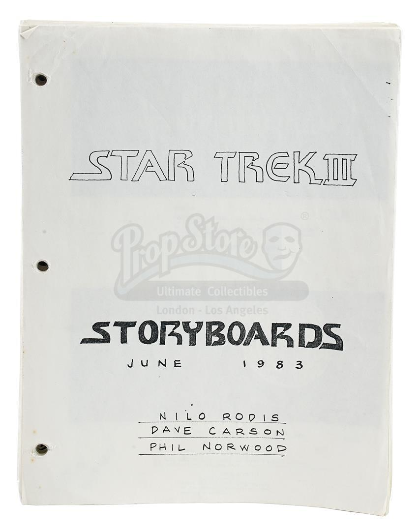 Lot # 1091: STAR TREK III: THE SEARCH FOR SPOCK - Storyboard Set