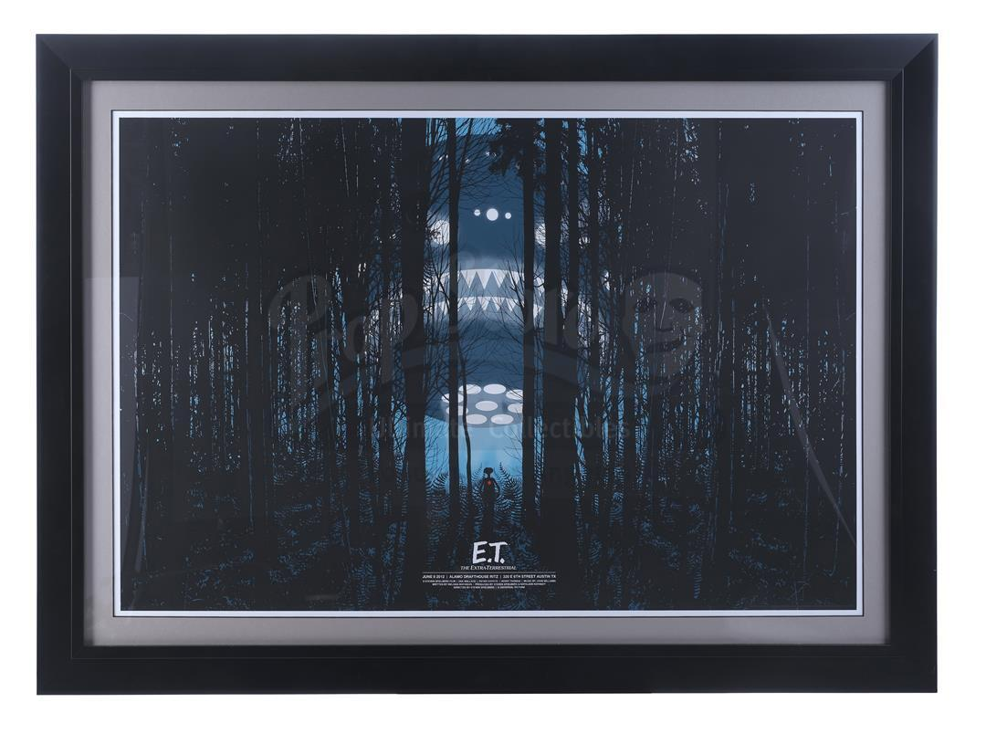 """Lot # 638: E.T. THE EXTRA-TERRESTRIAL - Framed Mondo """"Summer of 1982"""" Poster by Dan McCarthy"""