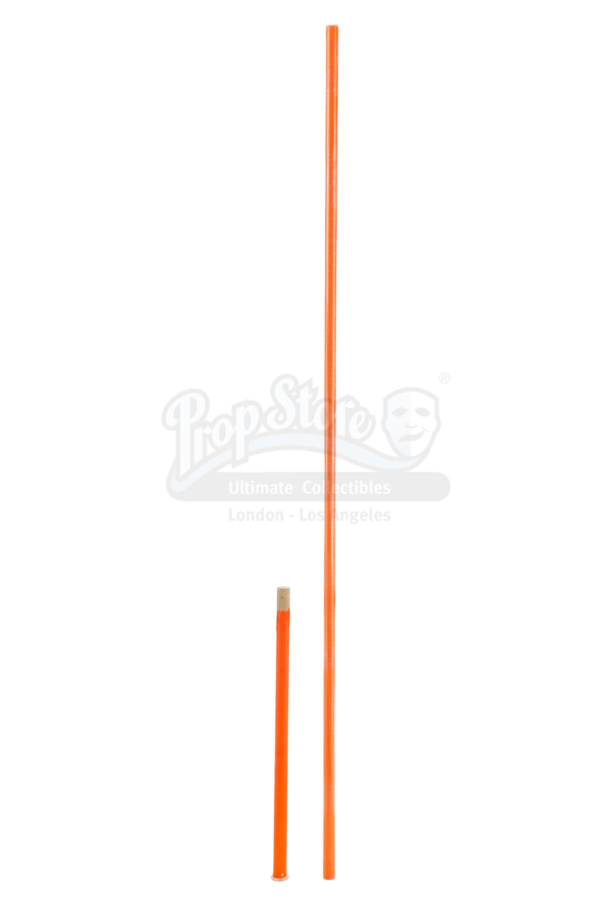 Lot # 1138: STAR WARS - EP III - REVENGE OF THE SITH - Pair of production lightsaber blades