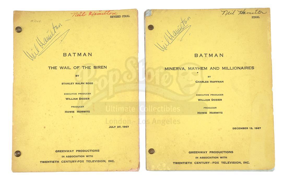 "Lot # 500: BATMAN - Neil Hamilton's ""The Wail of the Siren"" and ""Minerva, Mayhem and Millionaires"" S"