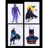 Lot # 501: BATMAN - Bob Ringwood Printed Production Costume Designs for Batman (Michael Keaton) and