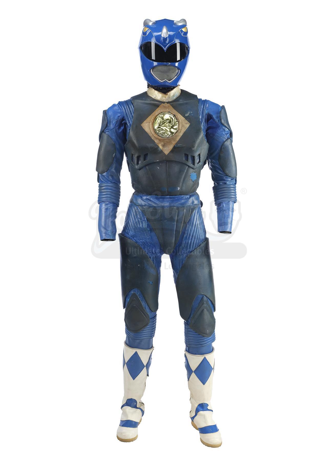 Lot # 186: MIGHTY MORPHIN' POWER RANGERS: THE MOVIE - Blue Ranger (David Yost) Costume