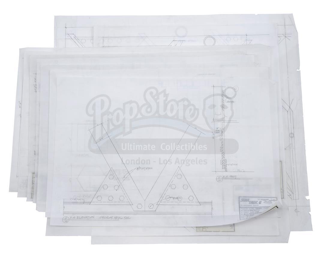 Lot # 1093: STAR TREK VI: THE UNDISCOVERED COUNTRY - Nine Original Blueprints