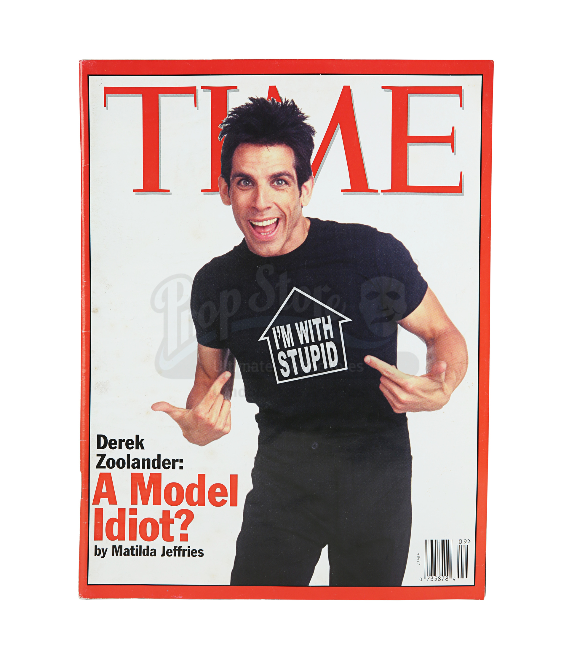 Lot # 1362: ZOOLANDER - Derek Zoolander's (Ben Stiller) TIME Magazine Cover