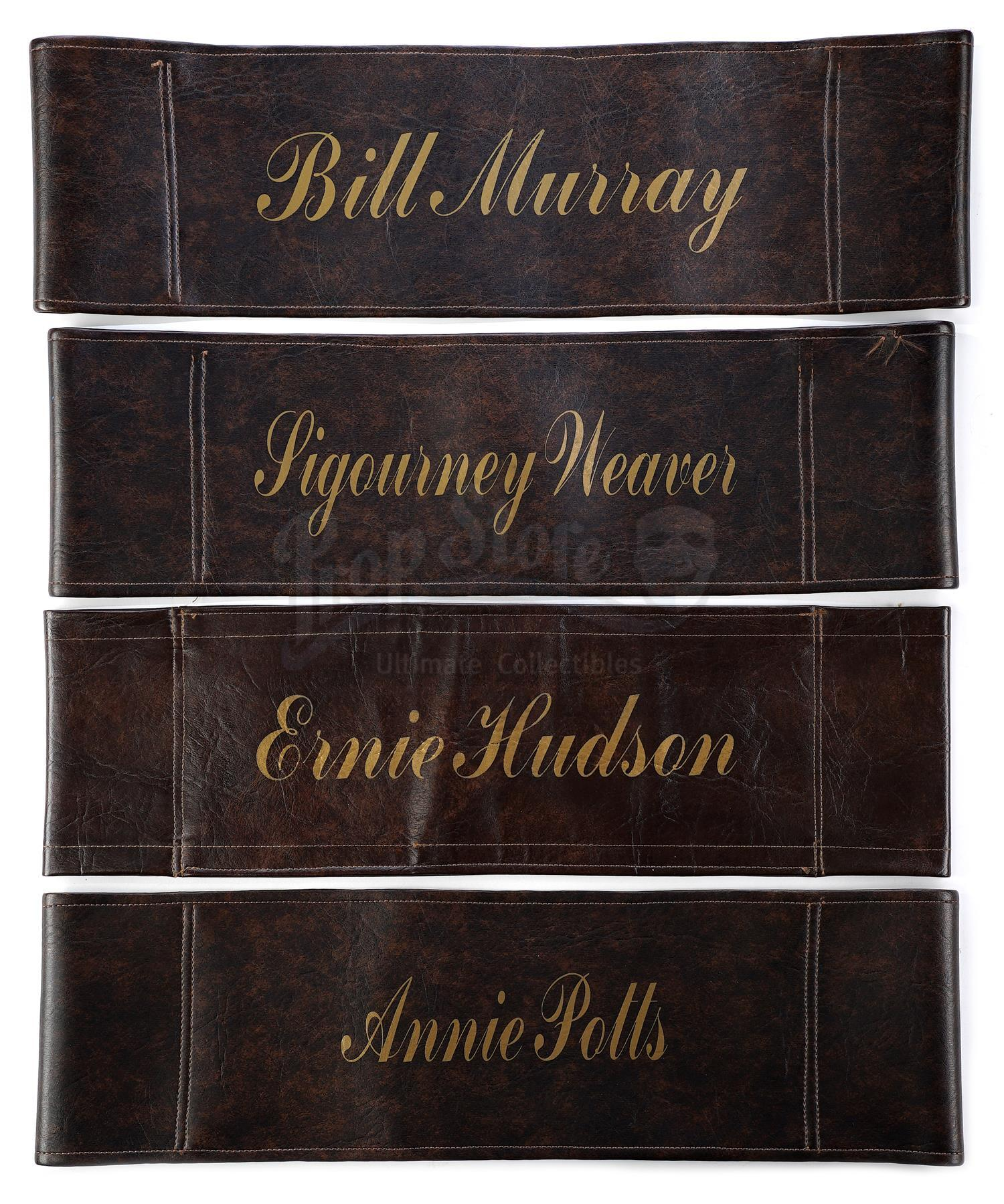 Lot # 692: GHOSTBUSTERS II - Bill Murray, Sigourney Weaver, Ernie Hudson, and Annie Potts' Chairback