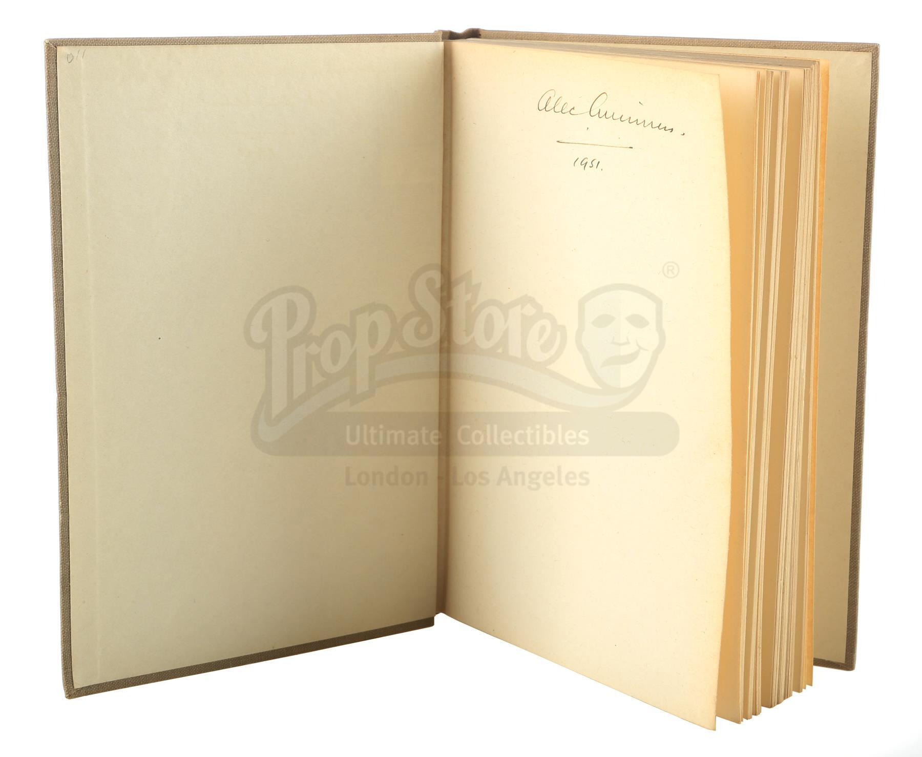 Lot # 1160: STAR WARS - EP IV - A NEW HOPE (1977) - Alec Guinness-Owned and Signed Book