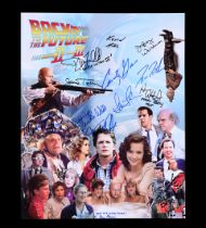 BACK TO THE FUTURE TRILOGY (1985-1990) - Michael J. Fox, Christopher Lloyd, and Cast-autographed Pos