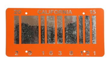 BACK TO THE FUTURE PART II (1989) - 2015 Hill Valley Car Licence Plate