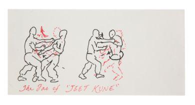 "BRUCE LEE - Bruce Lee's Hand-drawn ""Tao of Jeet Kune"" Illustration"