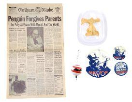 BATMAN RETURNS (1992) - Oswald Cobblepot's (Danny DeVito) Remote Control Device, Campaign Buttons, F