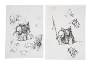 BRAZIL (1985) - Pair of Hand-drawn Terry Gilliam Dream Creature Sketches