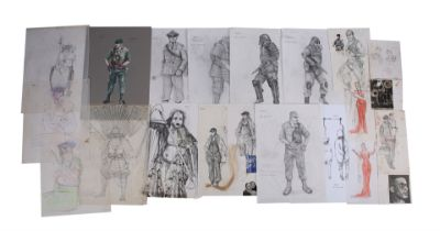 BRAZIL (1985) - 18 Hand-drawn Costume Designs, Six Security Shield Designs and Three Printed Costume