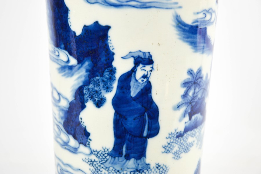 A Chinese blue and white vase, depicting figures in landscape, 40cm high. - Image 3 of 3