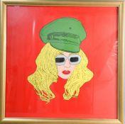 Simon Gross (20th century): Lady Gaga, silkscreen, framed, 58cm by 58cm