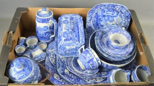 A quantity of Copeland Spode Italian to include, plates, tureen, cups, saucers, a cheese dish,