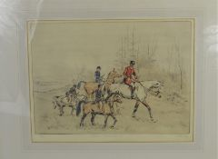 Tom Carr (1912-1977) 'Their first hunt' signed titled and numbered limited edition print - 36cm x