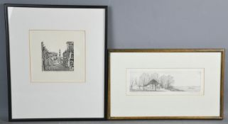 Two modern engravings, German landscape 3/950, Magnificent Gardens of the Golden Island, 3/100.