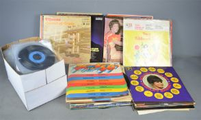 A large quantity of of LPs and single records to include Russ conway , Kaye sisters etc